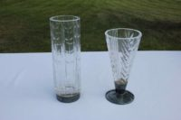Vaser med silverdelar