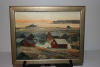 Åljemålning från Åland av Folke Winqwist